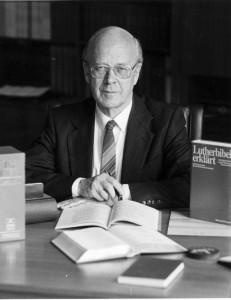 Landesbischof Eduard Lohse, 1987