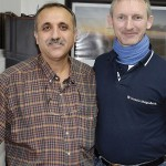 Pastor Nour Sahawneh und Tobias Keil