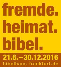"Logo ""fremde.heimat.bibel."""