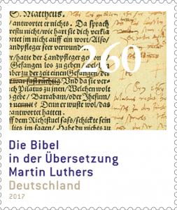 Sondermarke Lutherbibel 2017 (Foto: Bundesministerium für Finanzen, Gestaltung: Professor Peter Krüll, Kranzberg)