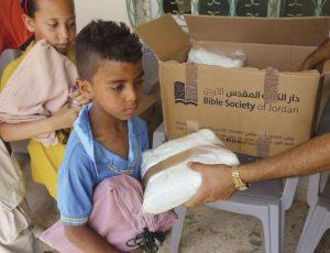 Verteilaktion der Jordanischen Bibelgesellschaft